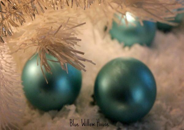 Aqua Christmas Ornaments | * Shabby Chic ~ Vintage ~ Roccoco ...