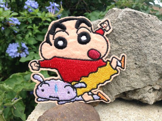 Iron on Sew on Patch:  Crayon Shin Chan with pet by dkPATCHES