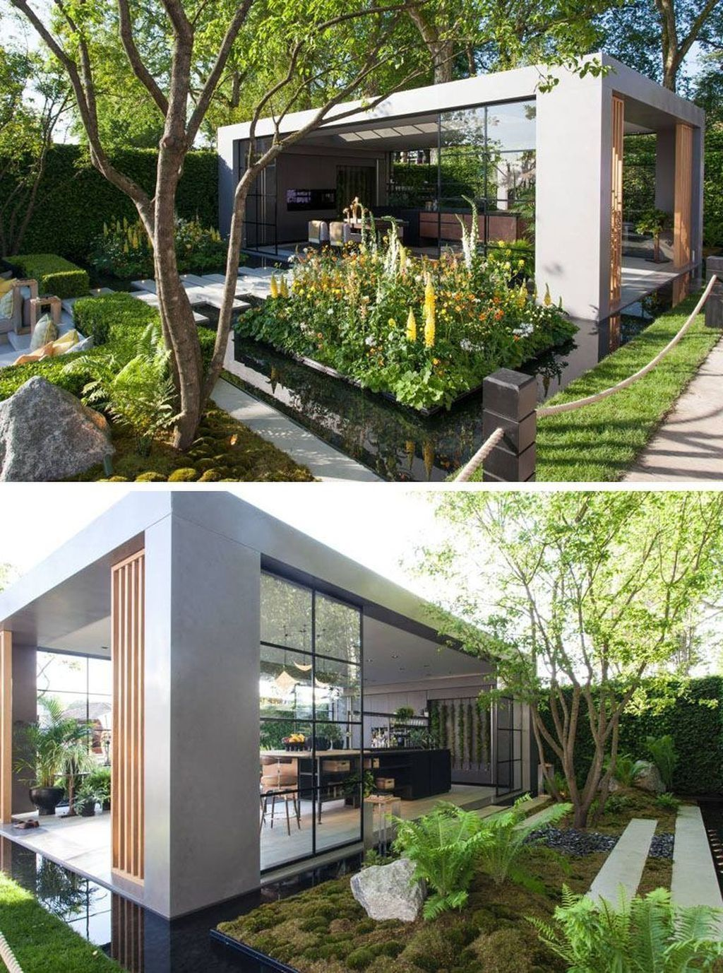 40 Elegant Modern Garden Architecture Design Ideas En 2020 Avec