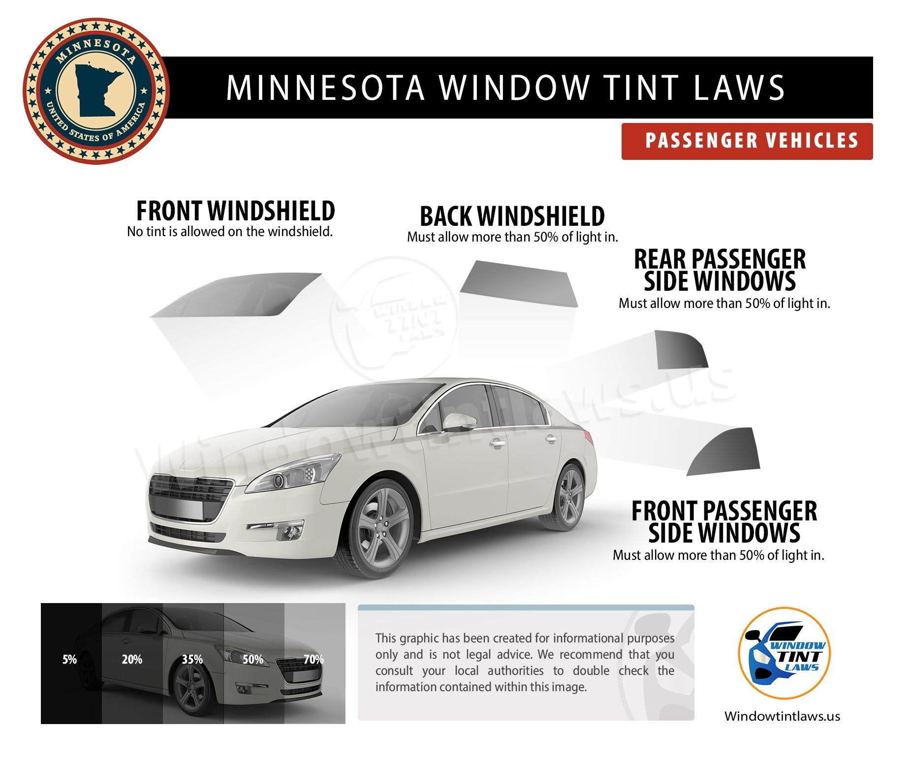 Minnesota Window Tint Laws 2020 Explained In 2020 Tinted Windows