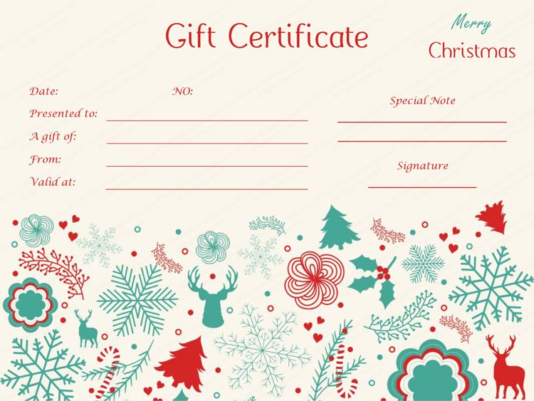 1000 images about Beautiful Printable Gift Certificate Templates – Christmas Gift Certificate Template