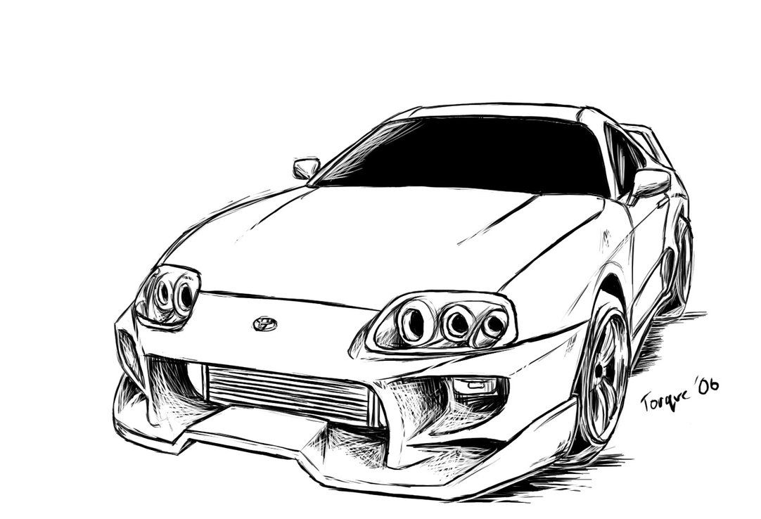 Toyota supra drawing supra pinterest dessin - Colriage cars ...