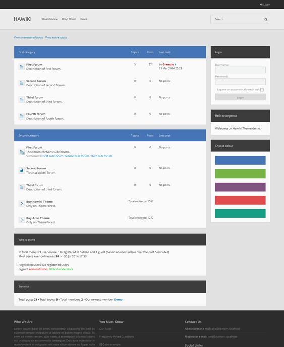 Hawiki 21 of the Best Responsive phpBB3 Themes | leeryan.xyz | Pinterest