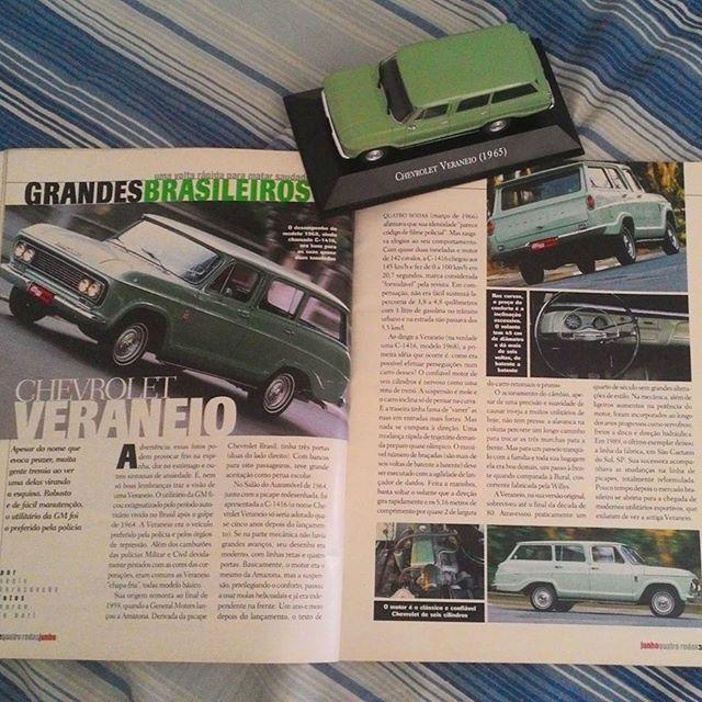 Chevrolet Veraneio 1965 diecast from Carros Inesquecíveis do Brasil by Planeta DeAgostini and Quatro Rodas magazine June 2002 talking about it.
