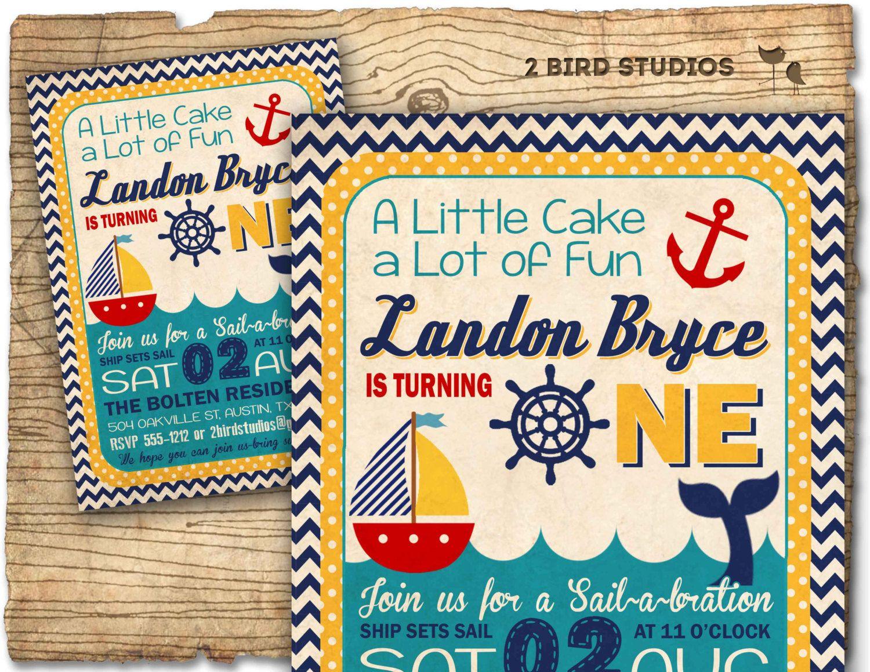 nautical 1st birthday invitations popular items for boat invitation