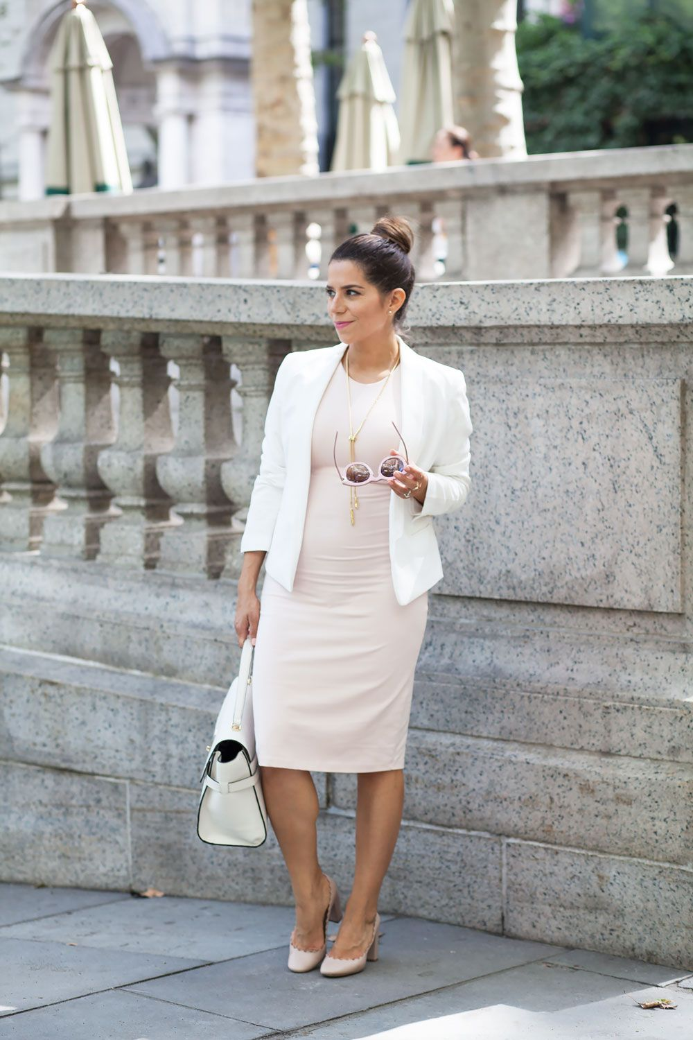 How To Dress For Work When You Are Pregnant Olivia Jeanette Office Fashion Women Business Casual Dresses Fashion [ 1500 x 1000 Pixel ]