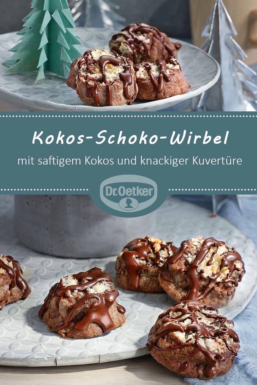 kokos schoko wirbel rezept weihnachtsb ckerei leckere kekse pl tzchen backen und. Black Bedroom Furniture Sets. Home Design Ideas