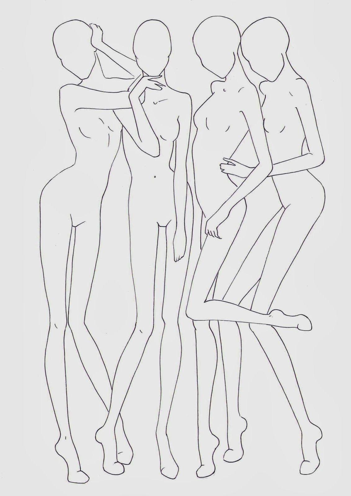 Fashion croquis templates - corpi figurini base moda 2   Misc ...