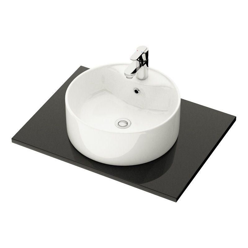 Tvättställ runt 38diameter Bauhaus Camargue, Tvättställ