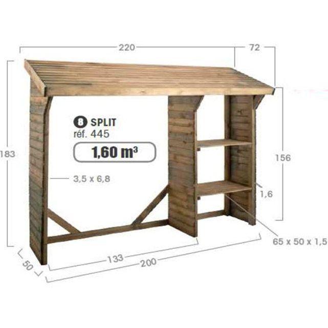 Abri bûches en bois traité autoclave 1,6m³ Split en 2019 | Brico ...