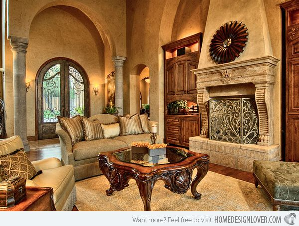15 Stunning Tuscan Living Room Designs Home Design Lover Tuscan Living Rooms Tuscan Furniture Tuscan House