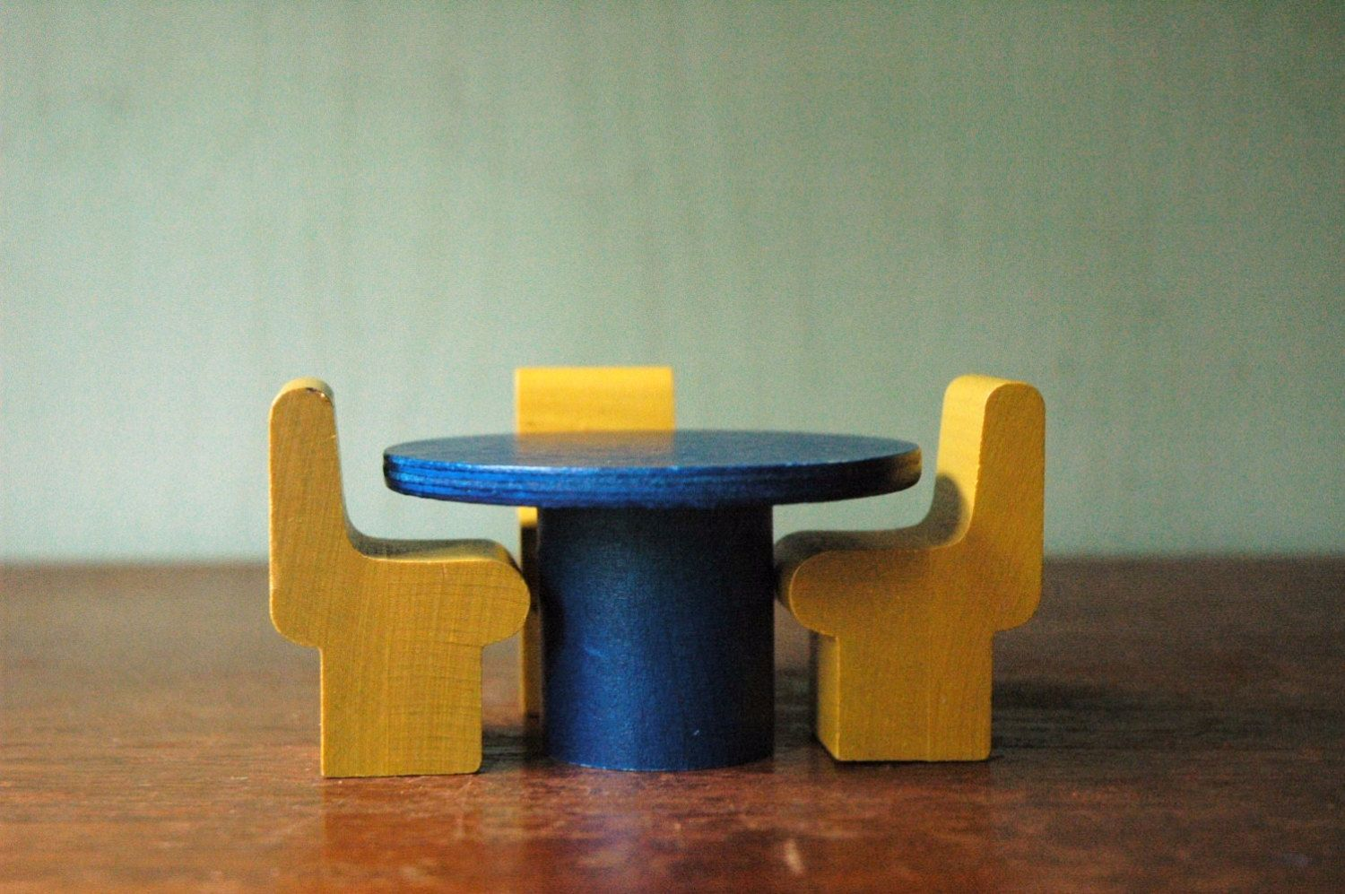 modern dollhouse furniture sets. Mid Century Modern Creative Playthings Dollhouse Furniture - Danish Table And Chairs Toy Set. Sets