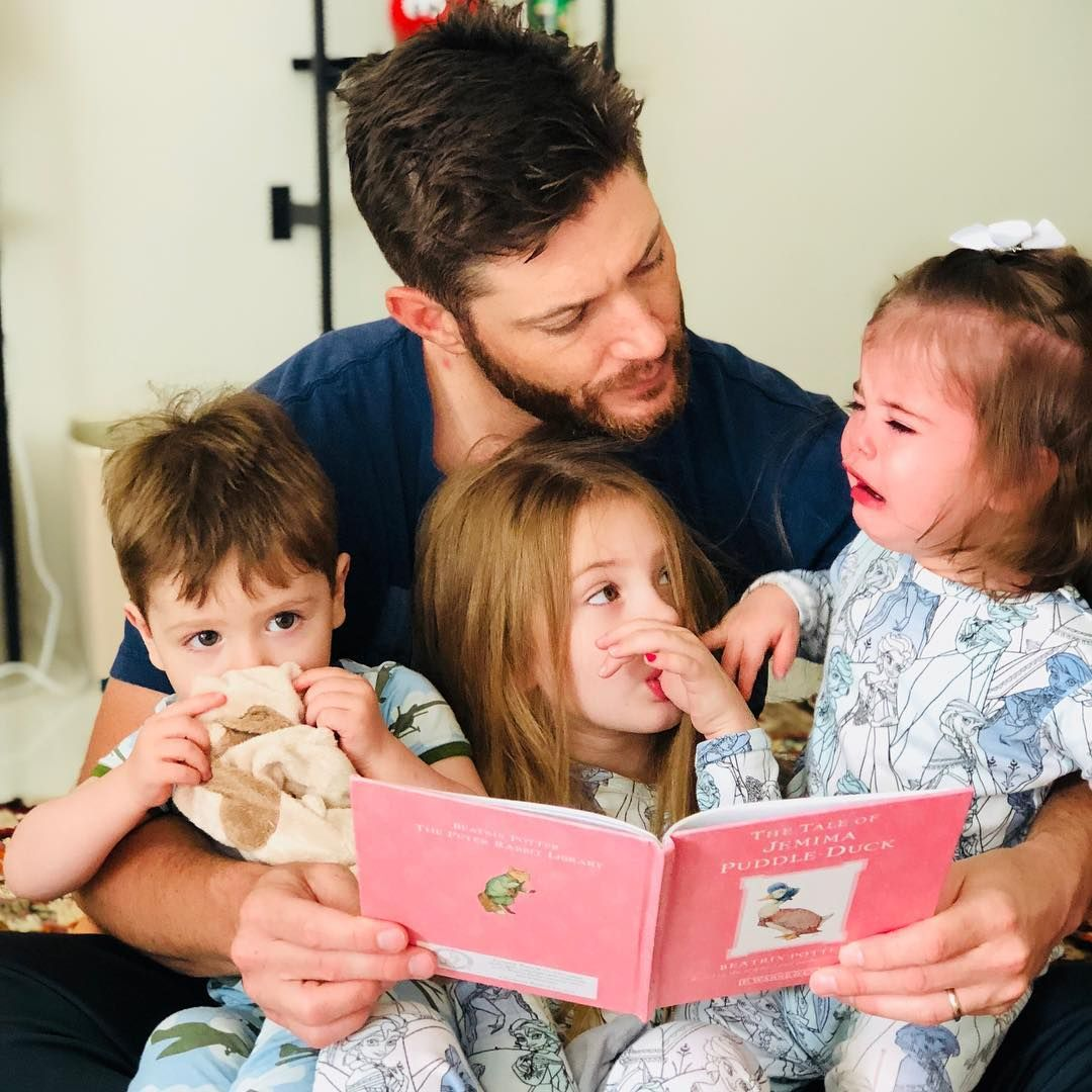 Happy Fathers Day to our Daddy @jensenackles He got up early with these guys and was doing this when I walked i… | Jensen ackles, Supernatural, Jensen ackles family