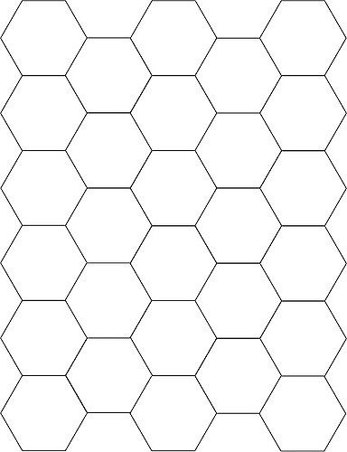 Hexagon Template | Template for cutting paper piecing hexago ...