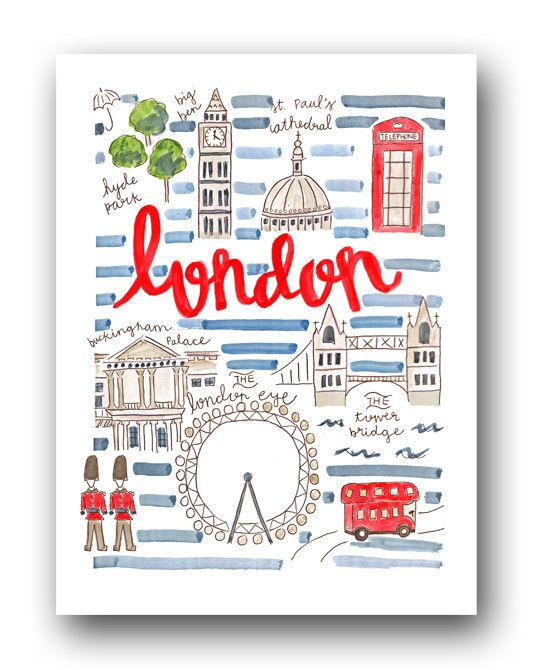 London Map Print by Evelyn Henson