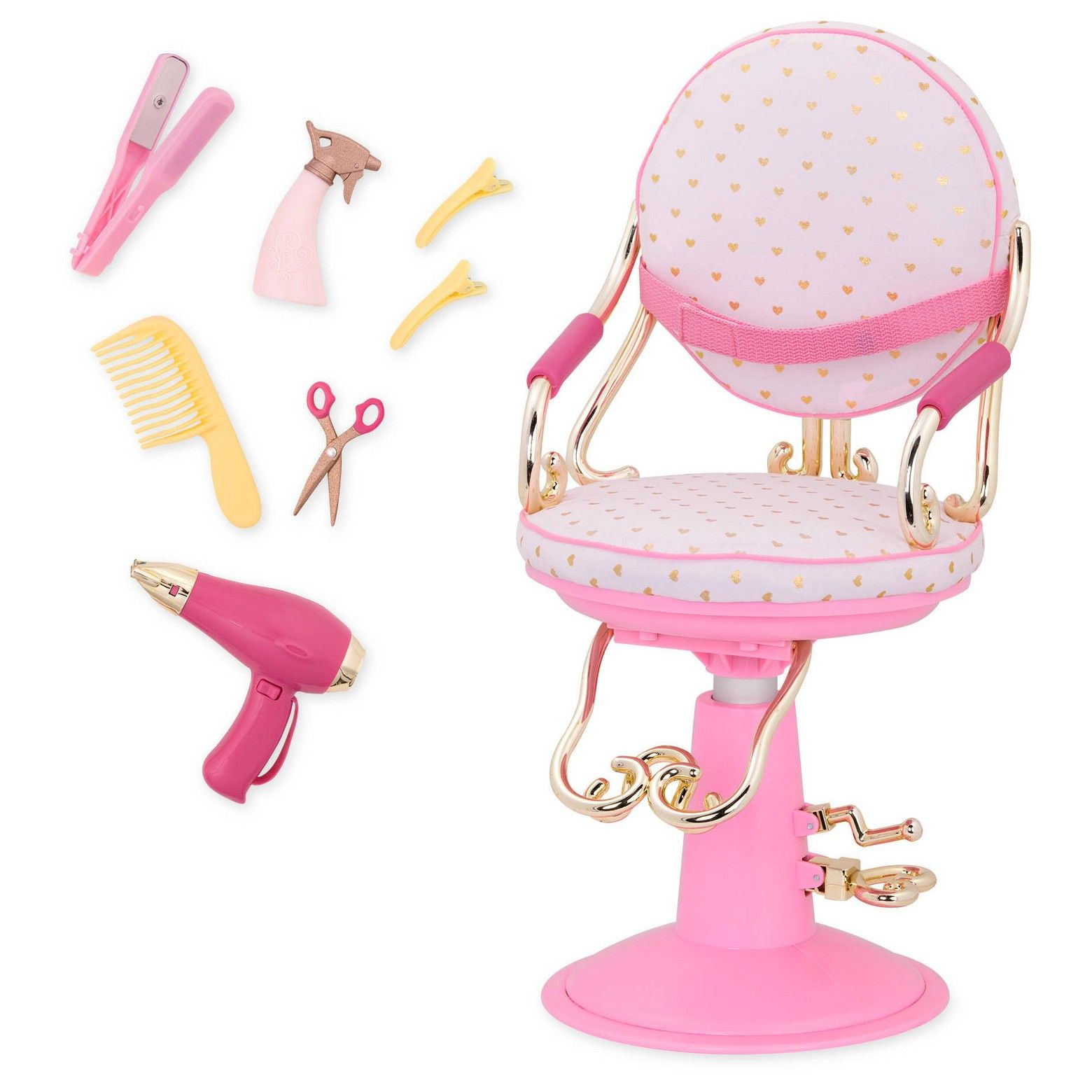 Our generation salon chair style scissors and dolls