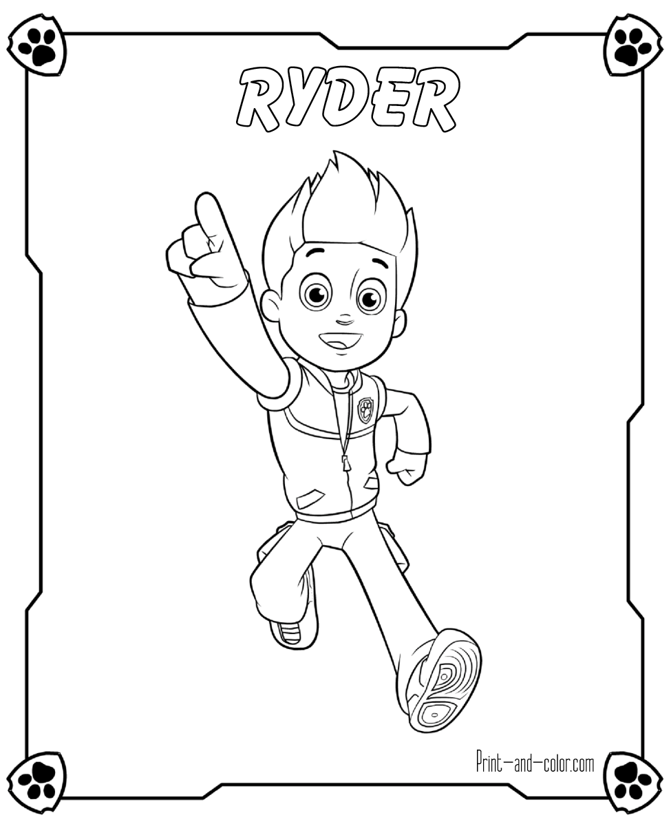 There are many high quality Paw Patrol coloring pages for your kids ...