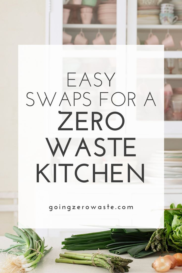 Photo of A few easy zero waste kitchen swaps – ones that are great for beginners.  I'm sh…