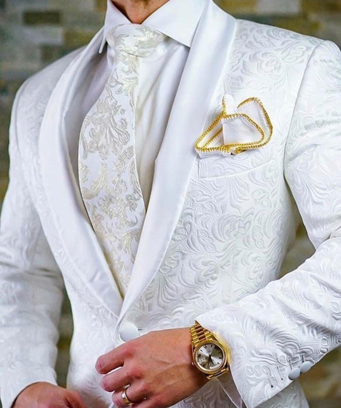 S by Sebastian White Paisley Dinner Jacket | Created by Ads