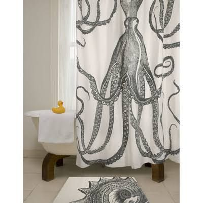 octopus shower curtain - Google Search