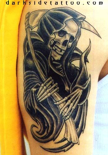 the grim reaper tattoo is a tattoo which symbolizes that. Black Bedroom Furniture Sets. Home Design Ideas