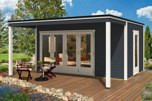 Wohnideen Gartenhaus design gartenhaus cubus avant 44 iso gartenhäuser aussen und