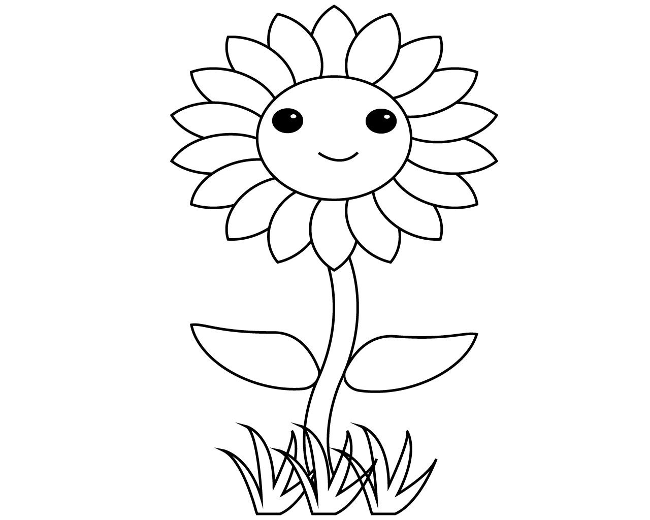 Best Simple Flower Coloring Pages To Print Coloring Pages To