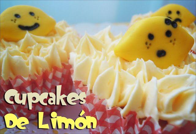 Cupcakes de Limón(para 12 cupcakes) Bizcocho: 115g de mantequilla sin sal 200g de azúcar 3 huevos M 180g harina,1 y 1/2ita de levadura 110 ml de leche semi, ralladura  de 1 limón El zumo de 1/2 limón (grande) Merengue suizo de limón: (Receta de Alma, de objetivo cupcake, adaptada) 350g de mantequilla sin sal (a temperatura ambiente) 225g de azúcar 4 claras de huevo 1 cucharadita de extracto de limón Colorante al gusto…