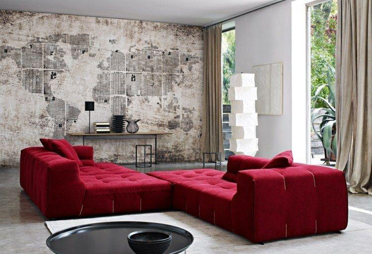 Décoration murale dans le salon en 25 idées super tendance