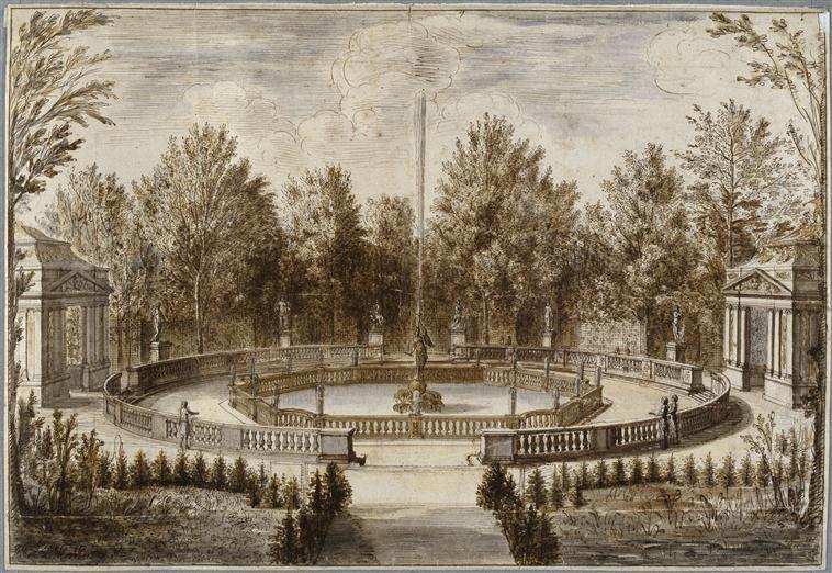 Vue de la fontaine de la renomm e dans le parc du ch teau - Le jardin de versailles histoire des arts ...