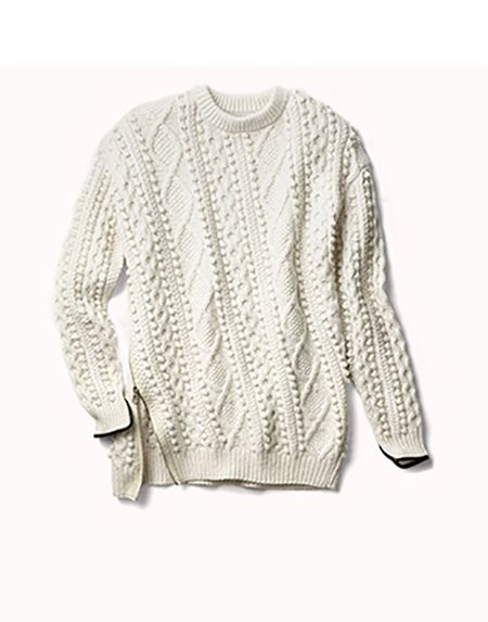 That cableknit sweater.