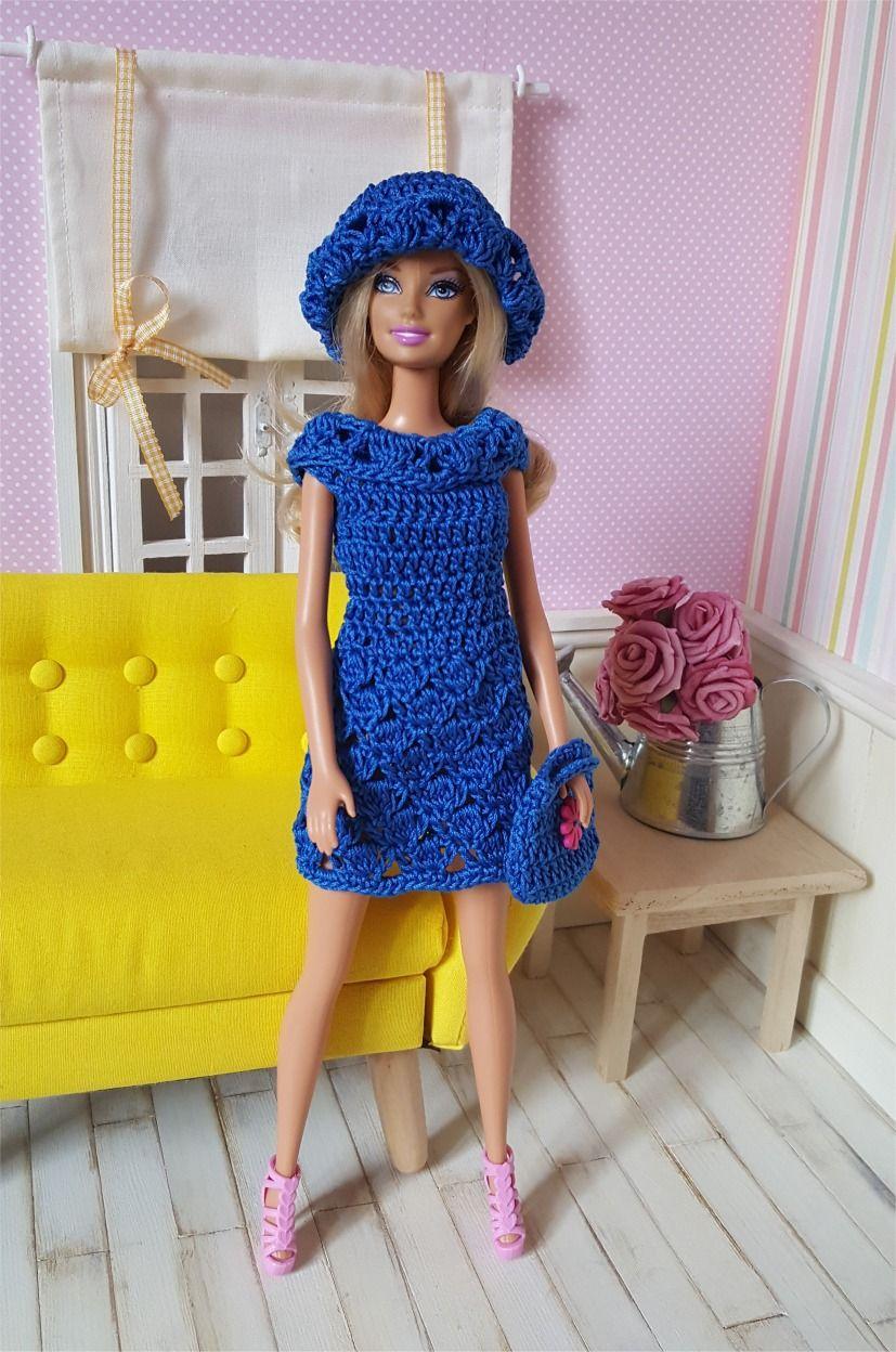 fd8349eb1d30f 126- FICHE PATRON CROCHET Ensemble Natacha pour poupée Barbie   Jeux ...