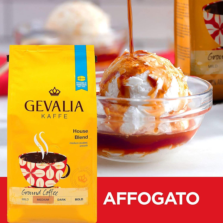 Gevalia House Blend Ground Coffee (12 oz Bags, Pack of 6