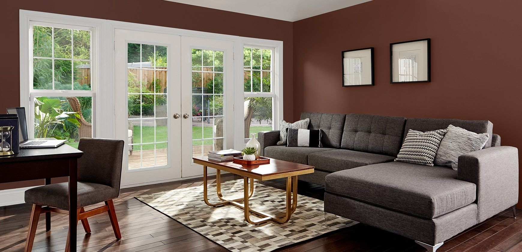 Create warm family rooms with Premier paint. Living room