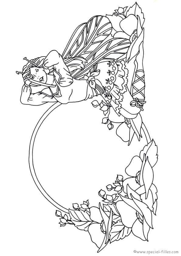 Fee Kleurplaat Fairy Pinterest Adult Coloring Fairy And Mandalas