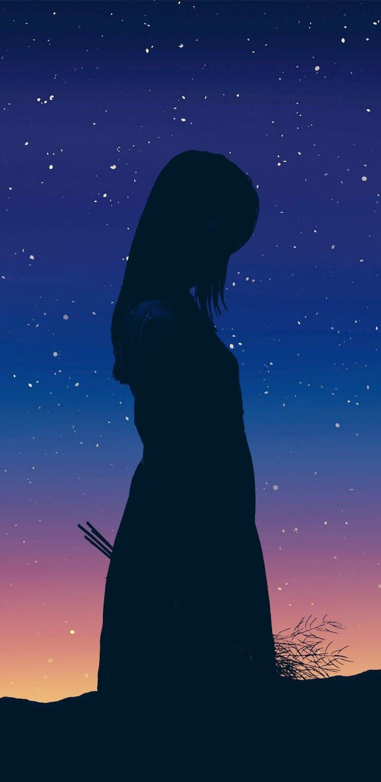 Lonely Wallpaper Iphone Android Background Followme Lonely Art Cute Wallpapers Anime Art Girl