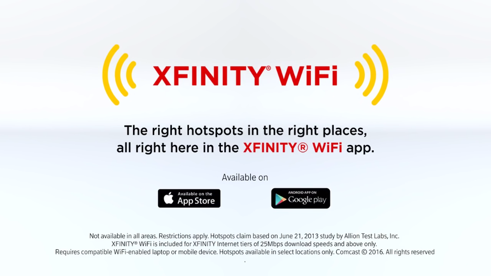Xfinity® WiFi by Comcast Wireless on the Go in