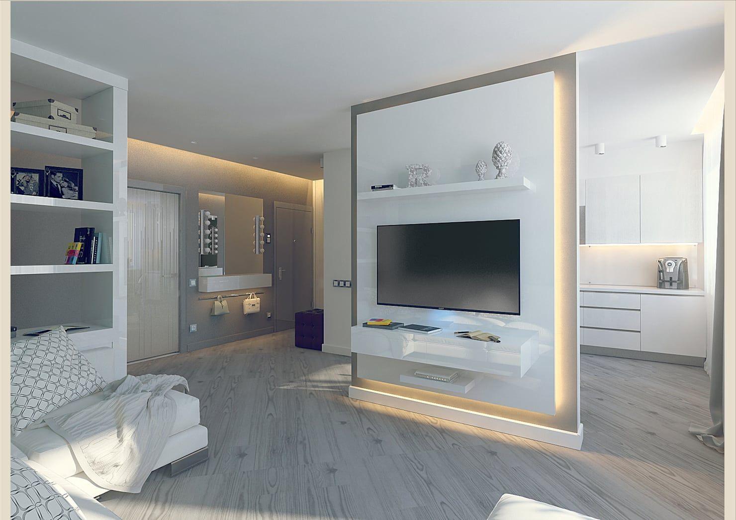 Minimalistische wohnzimmer von tutto design #roomdividerideas room
