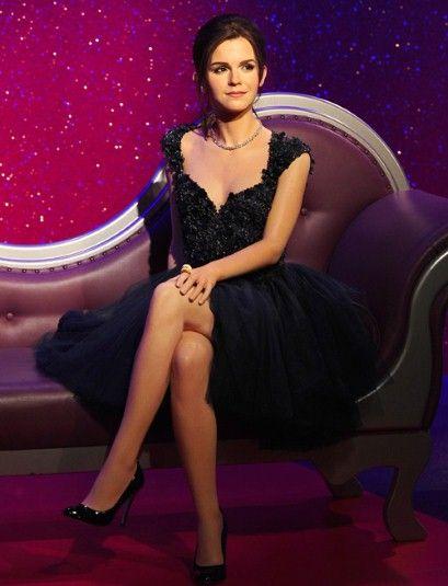 Emma Watson S Waxwork Dressed By Elie Saab Telegraph Emma Watson Emma Watson Legs Emma Watson Sexiest