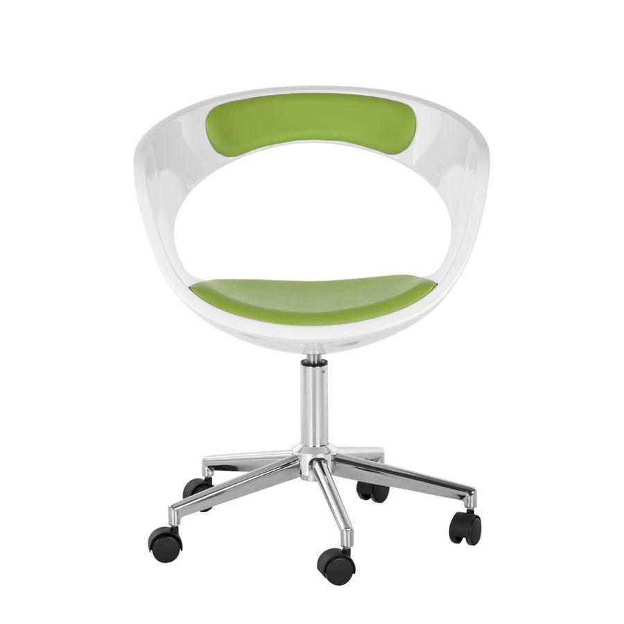 Chaise de bureau pivotante La Paz Vert Blanc 85 FDPC