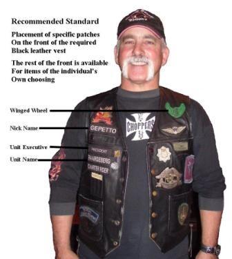 Biker Vest Patches >> Biker Vest Patch Placement Motorcycle Garage Pinterest
