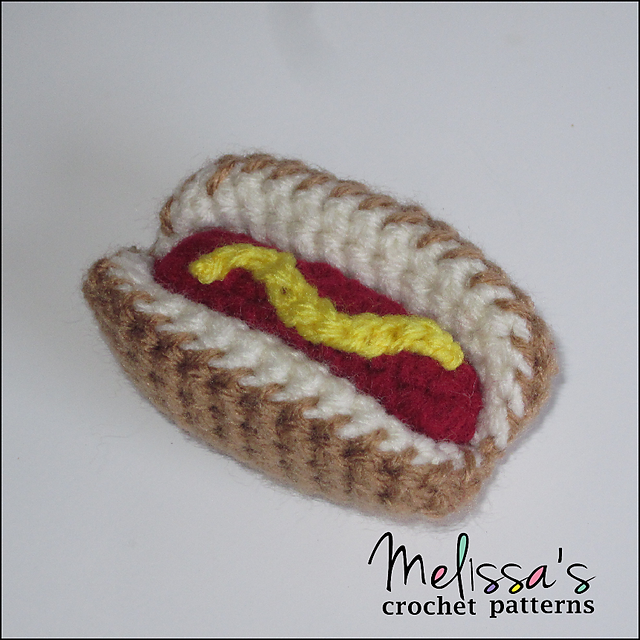 Ravelry Mini Hot Dog Cat Toy Pattern By Melissas Crochet Patterns