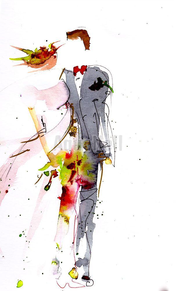 Epingle Par Marieb Gregorj Sur Peinture Mariage Illustration