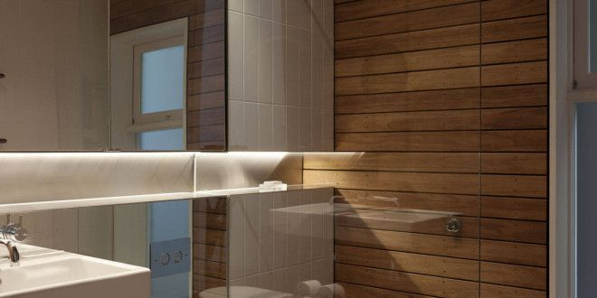 bad modern gestalten mit spiegelwand und indirekt beleuchtete