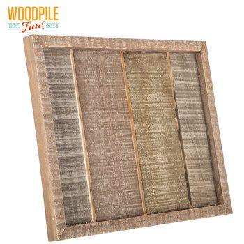 Slatted Pine Wood Panel With Easel Back Wood Paneling