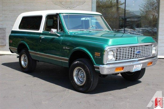 1972 Chevrolet K5 Blazer 4WD vin CKE182F160861 Chevy