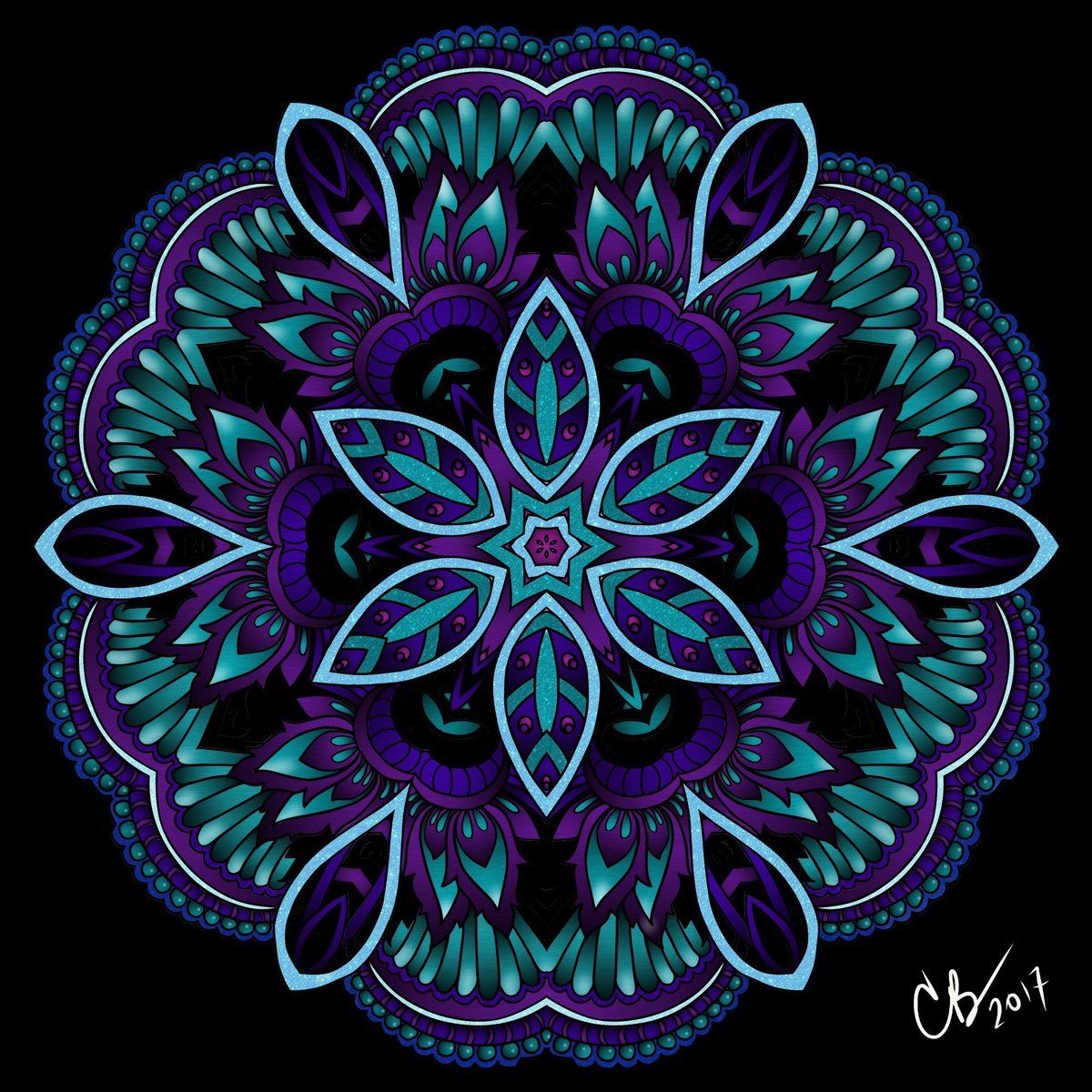 Whoa Check Out This Beautiful Glowing Mandala Colored By
