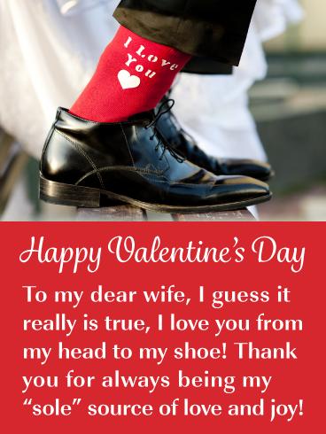 I Love You Socks Happy Valentine S Day Card For Wife Birthday Greeting Cards By Davia My Love Happy Valentine Birthday Greeting Cards