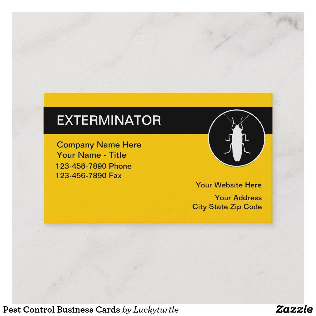 Pest Control Business Cards Zazzle Com Pest Control Pests Business Cards