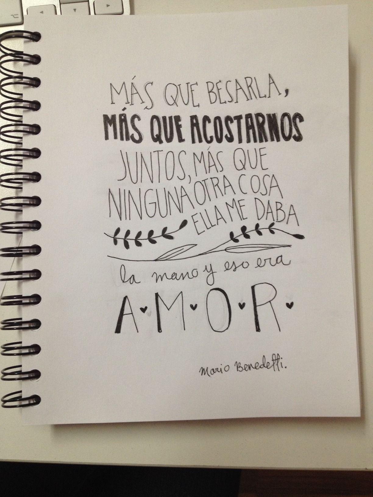 Mario Benedetti La Tregua Comillas Pinterest Love Quotes